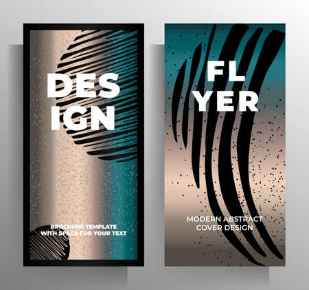 Design of covers for a book, magazine, booklet, catalog, poster. Set of stylish templates. Vector illustration. Standard-Bild