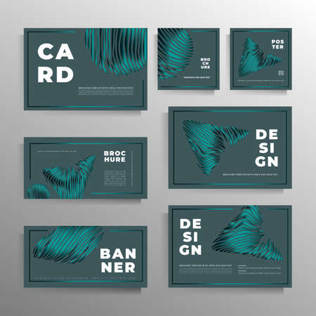 Design of covers for a book, magazine, booklet, catalog, poster. A large collection of stylish templates. Vector illustration. Illustration