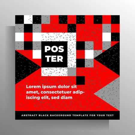 Cover template for book, brochure, poster, booklet, catalog, magazine. Geometric modern design. Vector illustration.