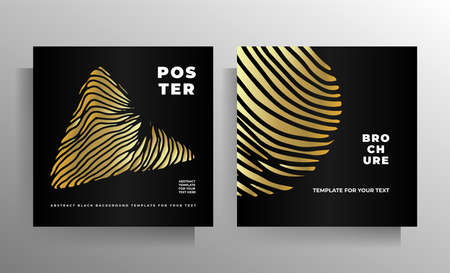 Print cover design template set. Vector illustration.