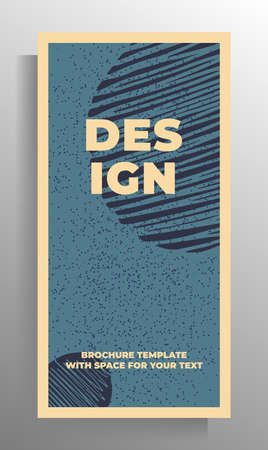 Design template for cover flyer, poster, book, magazine, booklet, catalog. Vector illustration with hand drawn graphic elements.