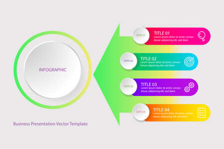 Infographics. Vector template for business presentation.