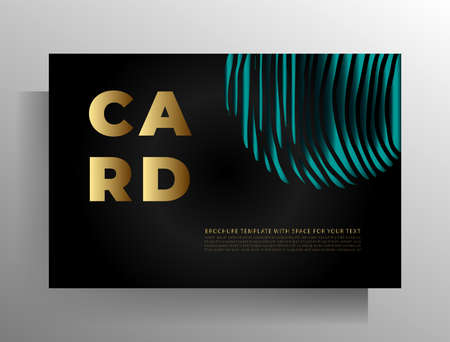 Print cover design template. Vector illustration. Standard-Bild