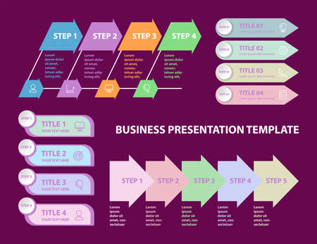 Infographics options banners. Set of vector templates for business presentations. Illustration