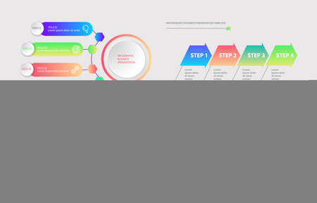 Infographics. Set of vector templates for business presentations.