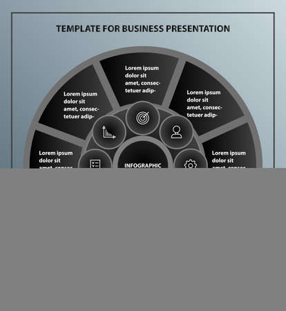 Infographics vector template for business presentation. Process diagram. Illustration