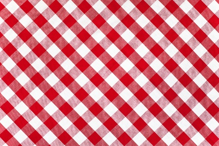 red tablecloth: red checked fabric tablecloth