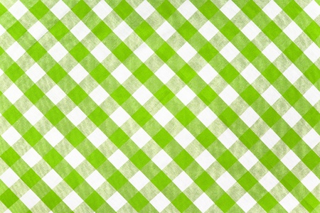 green checked fabric tablecloth Stock Photo - 10933139