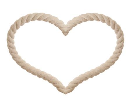 deportes nauticos: cuerda en forma de coraz�n aislado Foto de archivo