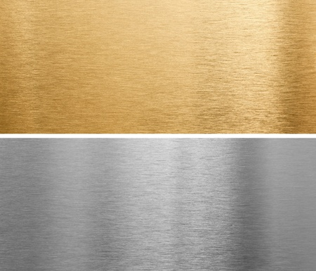 brushed aluminium: aluminium and brass metal plates