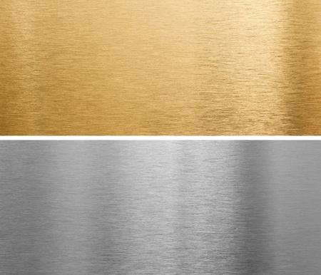 acier bross�?: des plaques m�talliques d'aluminium et le laiton