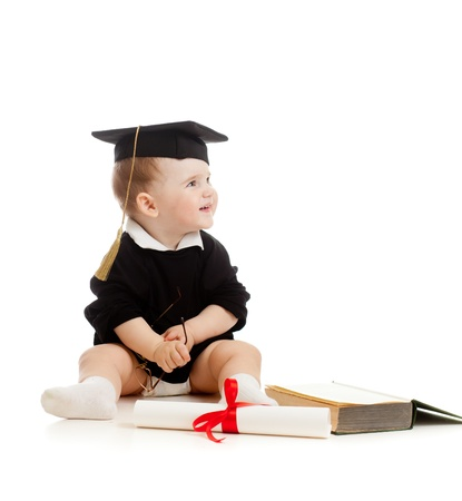 Baby in academician photo
