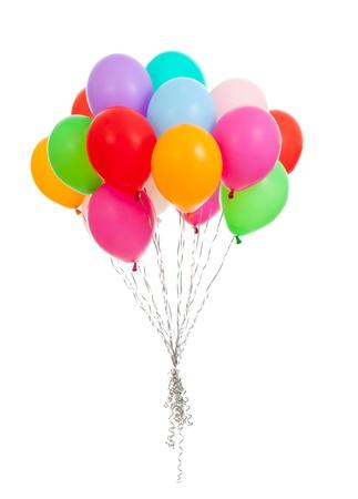 globos de colores aislados en blanco