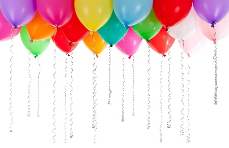 party balloons: colorful balloons isolated on white