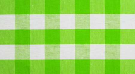 green checked fabric tablecloth photo