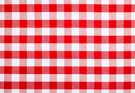 red checked fabric tablecloth Stock Photo - 12266153