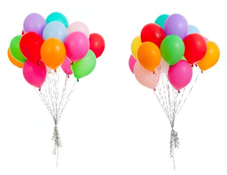 party balloon: colorful balloons isolated on white