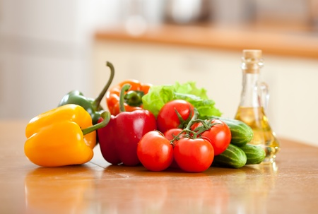 capsicums: fresh vegetables on the table