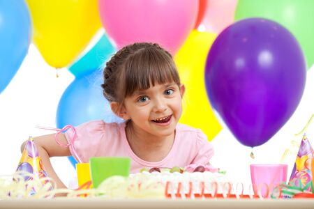 beautiful girl celebrating birthday party photo