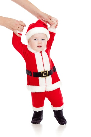 first steps of Santa claus baby Stock Photo - 14105292