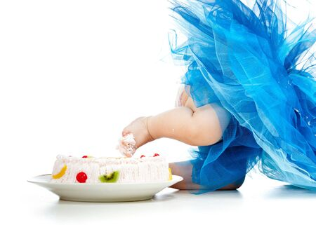 funny baby foot in cake photo