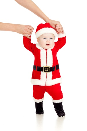 first steps of Santa claus kid Stock Photo - 14726726