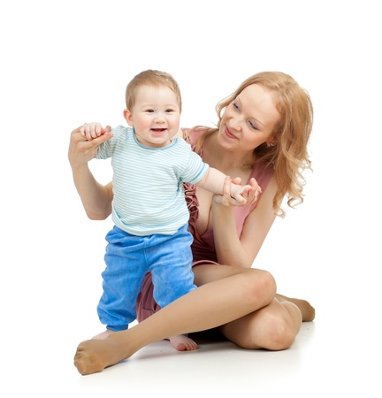 cute mother and baby having fun Stock Photo - 15636231