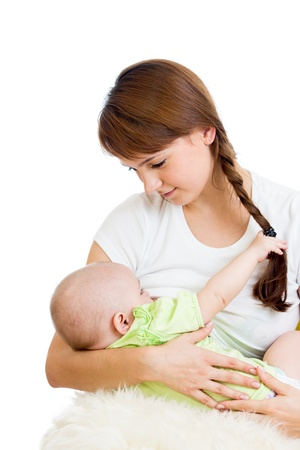 mother breast feeding and hugging her baby Stock Photo - 15641194