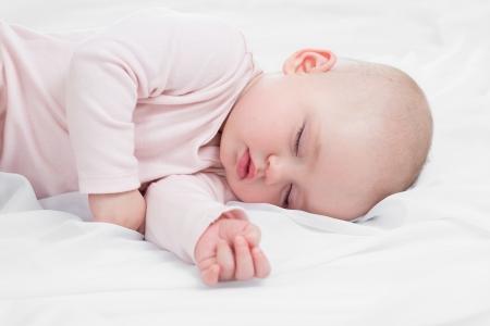 baby sleeping: adorable baby sleeping on stomach