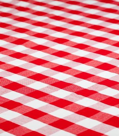 manteles: rojo tela comprobado mantel Foto de archivo