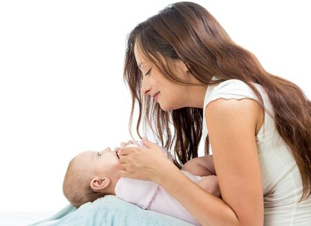 Loving mother having fun with her baby infant Stock Photo - 15971917