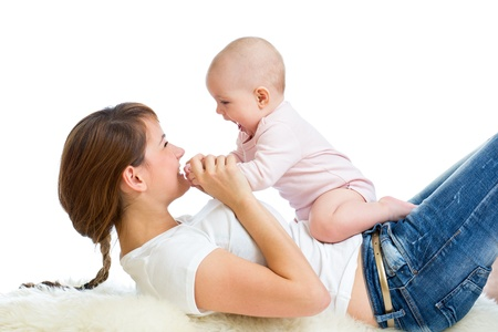 Loving mother having fun with her baby girl Stock Photo - 16143350