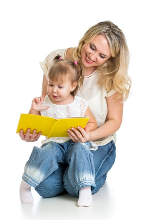 cute happy kid reading a book Stock Photo - 16241712