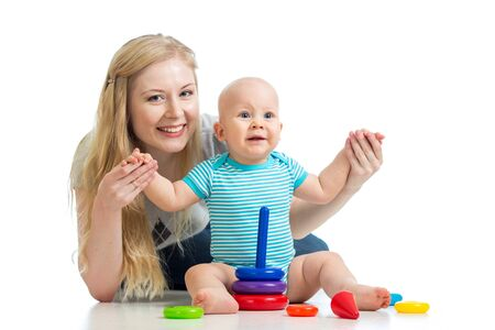 baby boy and mother playing together Stock Photo - 16935943