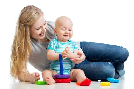 baby boy and mother playing together Stock Photo - 17455491