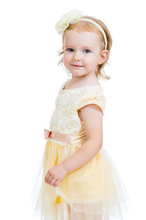 cute little girl isolated on white background Stock Photo - 17499563