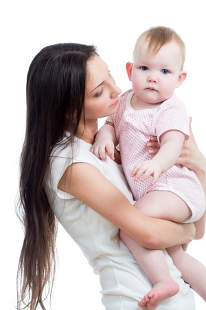 cute mother with baby girl photo