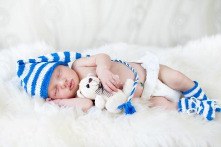 sleeping baby boy photo