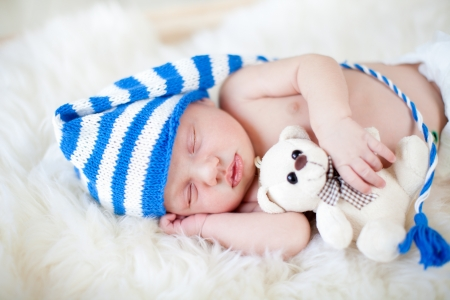 sleeping baby boy photo