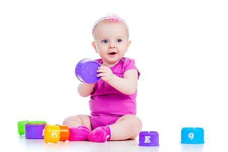 baby girl playing photo