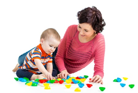 mother and kid play together Stock Photo - 18498430