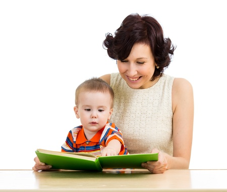 mother reading a book baby boy Stock Photo - 18498463