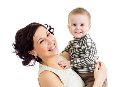 joyful mother playing with her kid boy Stock Photo - 18498465