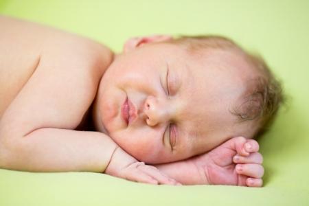 sleeping newborn baby boy Stock Photo - 18691992