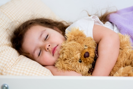 kid girl sleeping photo