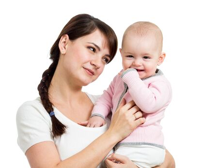 happy mother and baby girl Stock Photo - 19050906