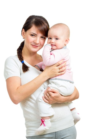happy mother and baby girl Stock Photo - 19050907