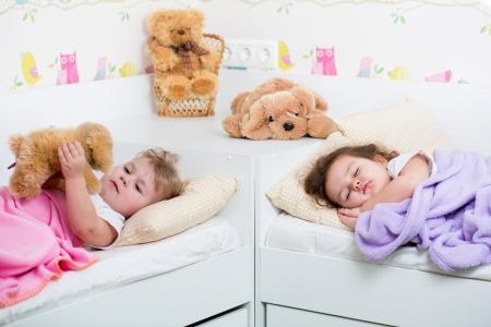kid girl sleeping photo