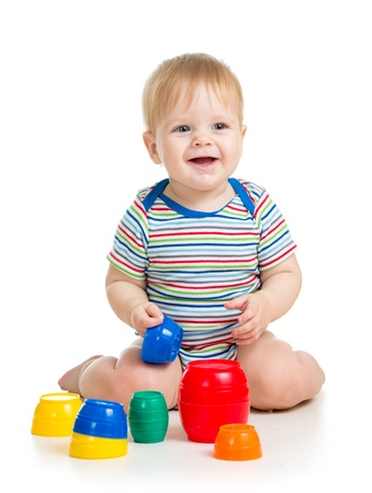 baby or kid playing with toys photo