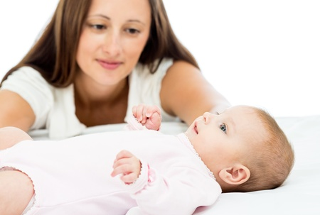 happy mother looking at her baby infant Stock Photo - 20322801